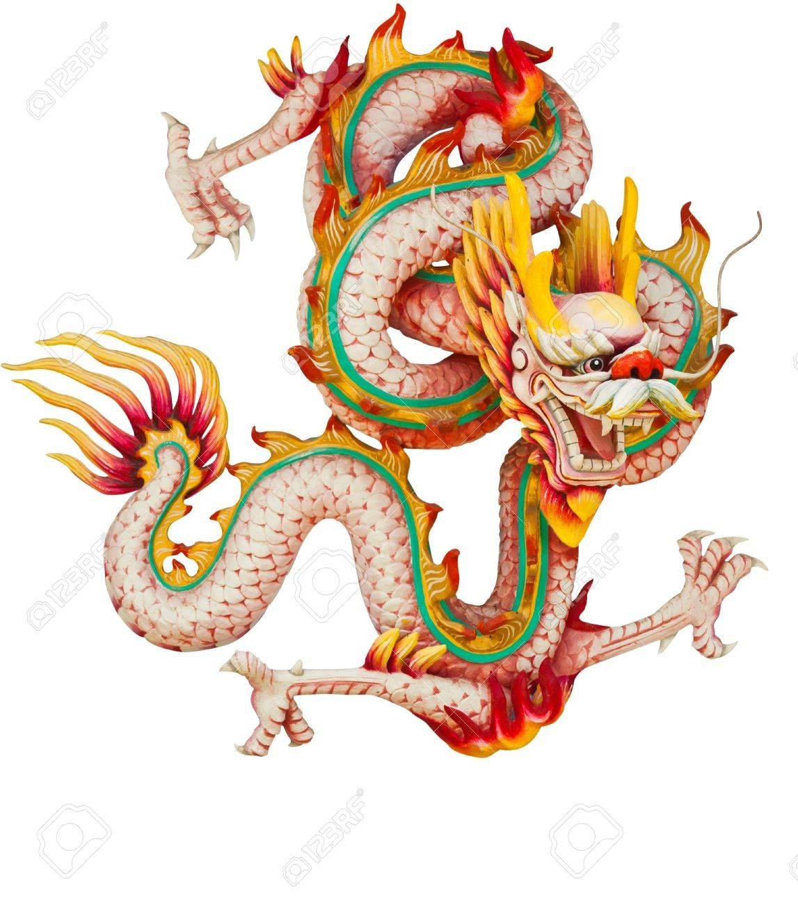 Pink dragon isolated on white background Stock Photo - 10748082