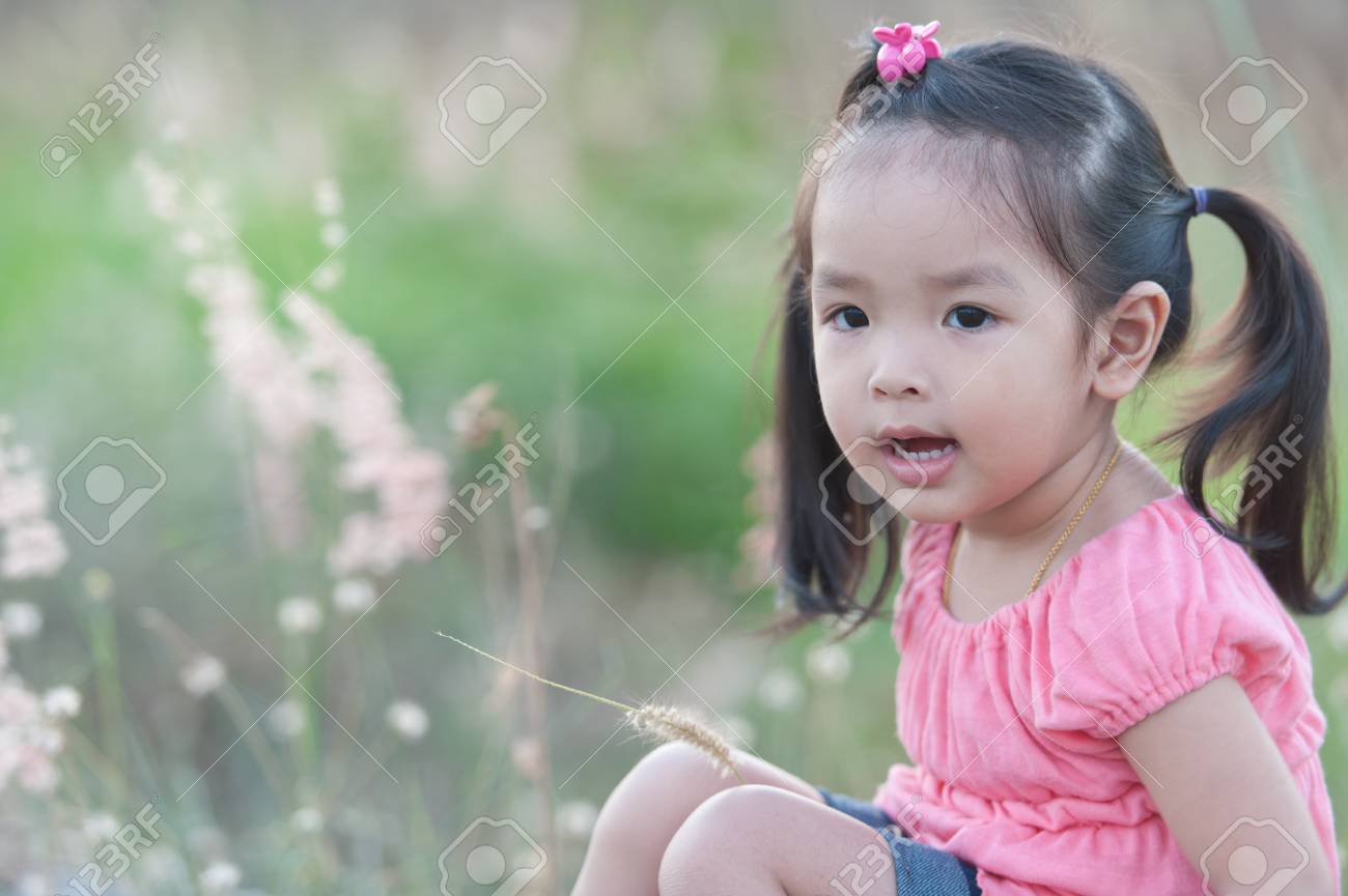 Portrait of little Asian girl Stock Photo - 14096222