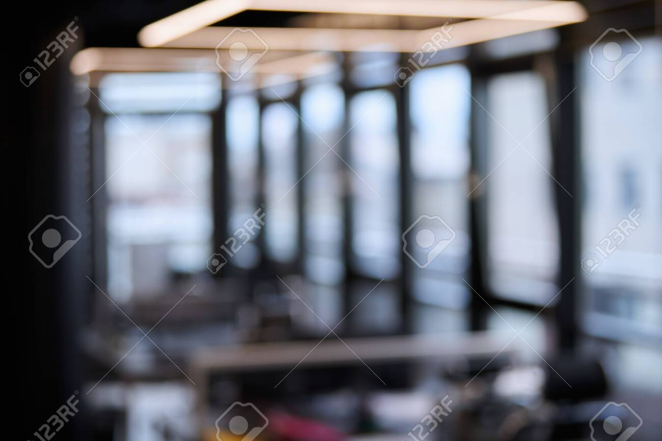 Modern Office Blurred Background Large Corporation Workplaces