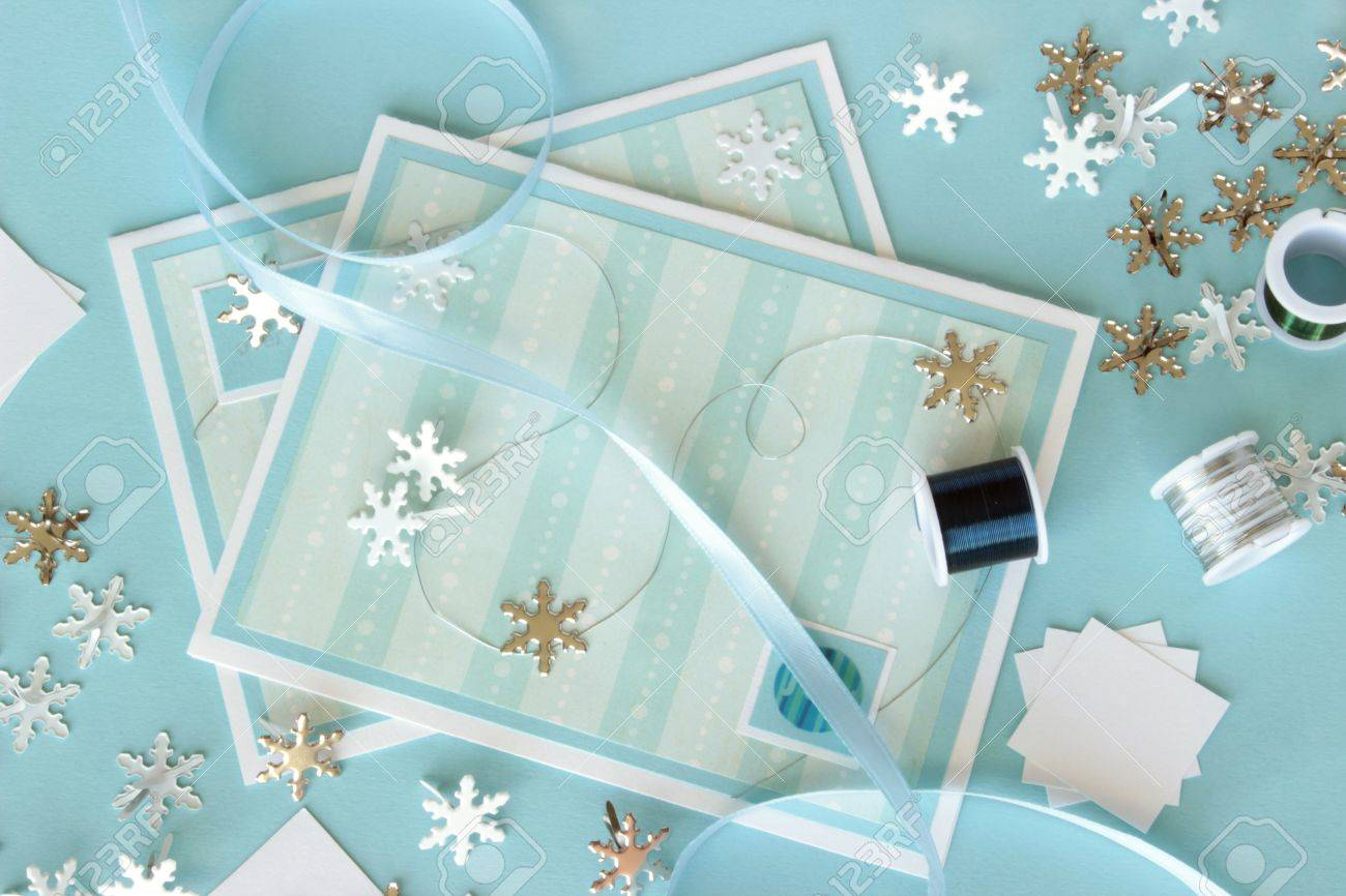 An Image Of Two Hand Made Greeting Cards With A Winter Theme
