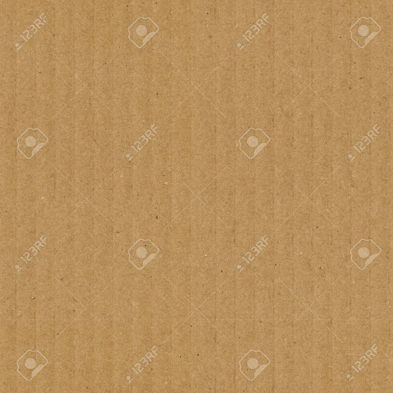 Cardboard texture seamless pattern. Brown corrugated card with vertical strips - 66293899