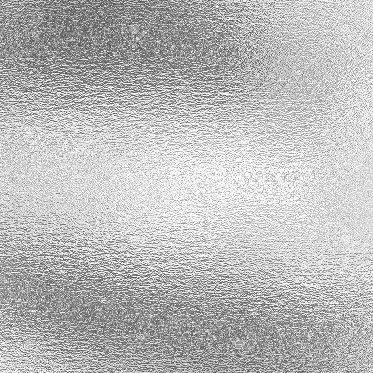 Silver foil texture, gray metallic background for artwork - 68880331