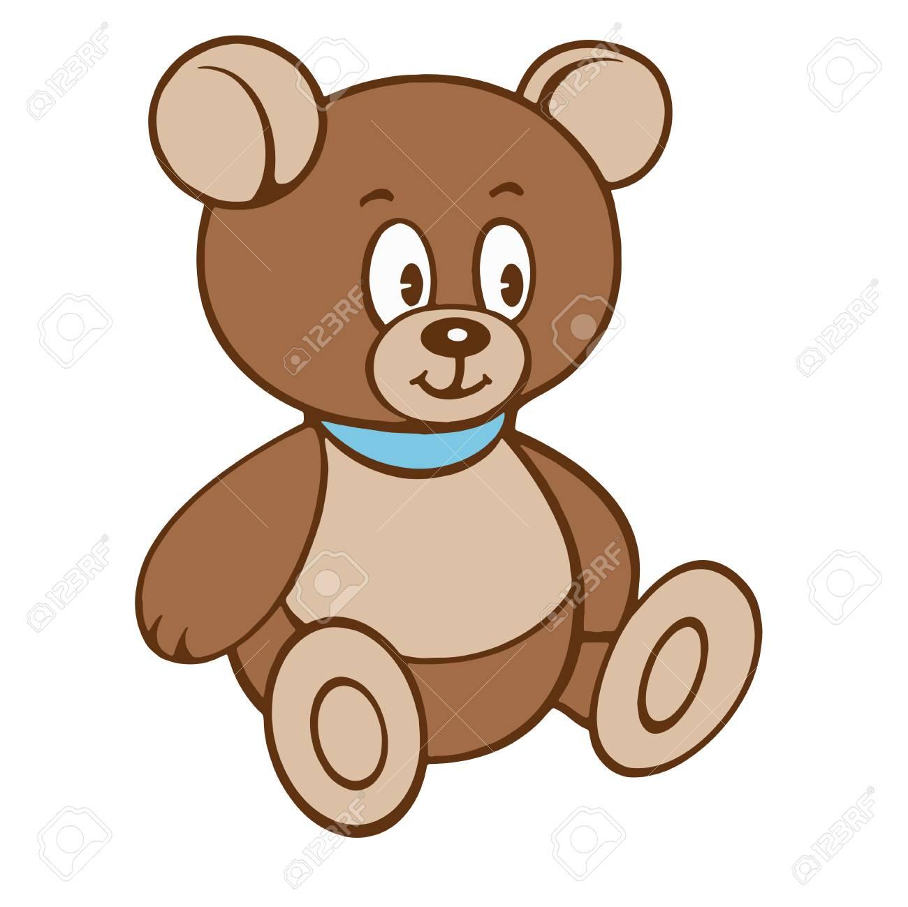 cartoon teddy bear vector illustration on a white background rh 123rf com teddy bear vector silhouette teddy bear vector png