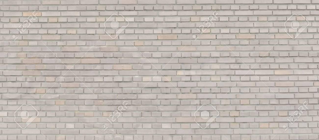 Beige brick wall panorama. - 90067107