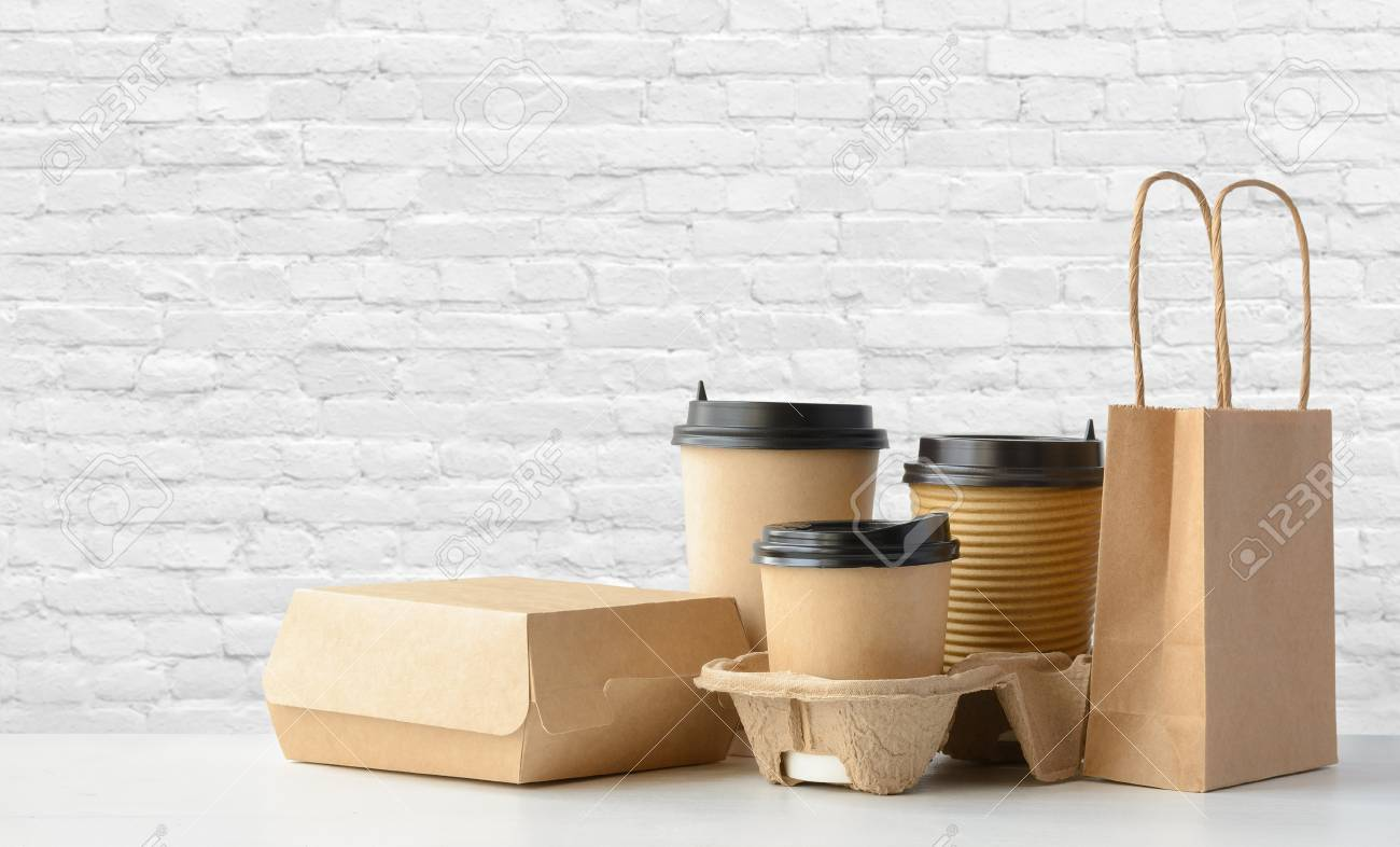 Fast food and drink packaging set - 97105478