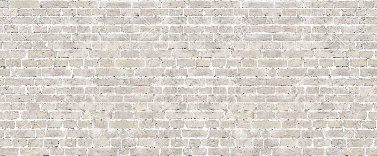 Beige brick wall seamless pattern. - 120906114