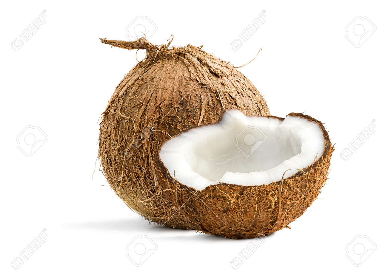 Tropical Coconuts isolated on a white background - 170947483
