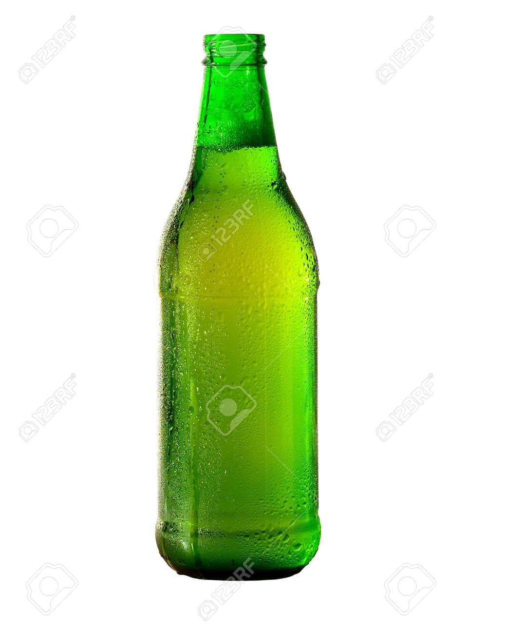 Green Beer bottle isolated on white. - 171379347