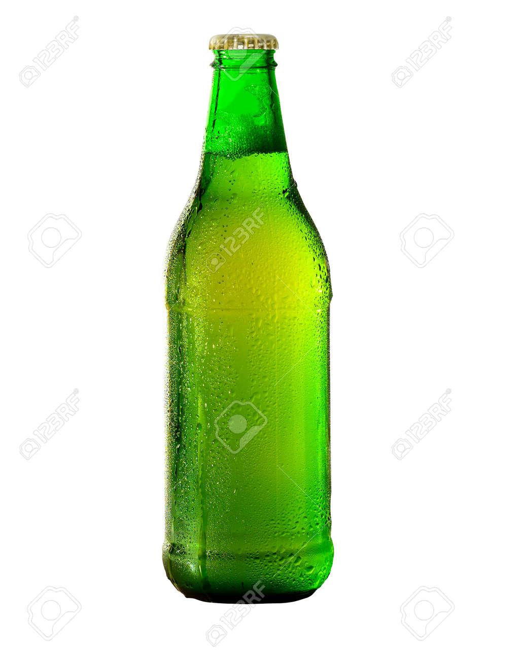 Green Beer bottle isolated on white. - 171169967