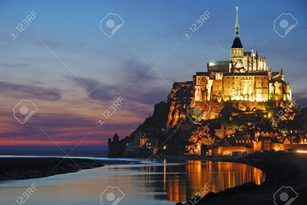 Mont St Michel in Normandy,France Stock Photo - 16492037