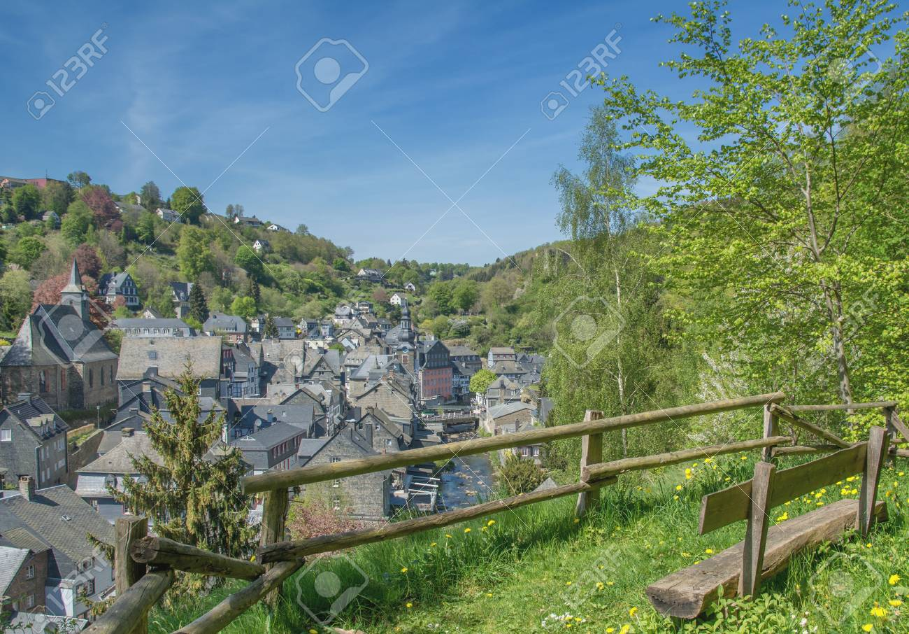Monschau North Rhine Westphalia Germany Eu Stockfotos