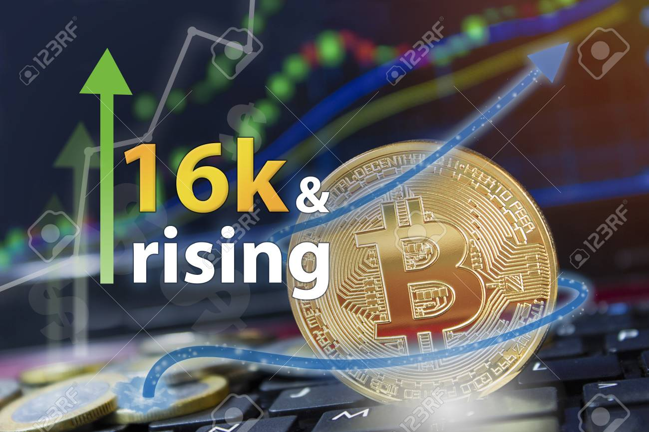 Upswing For The Crypto Currency Bitcoin With Btc Symbol Trading