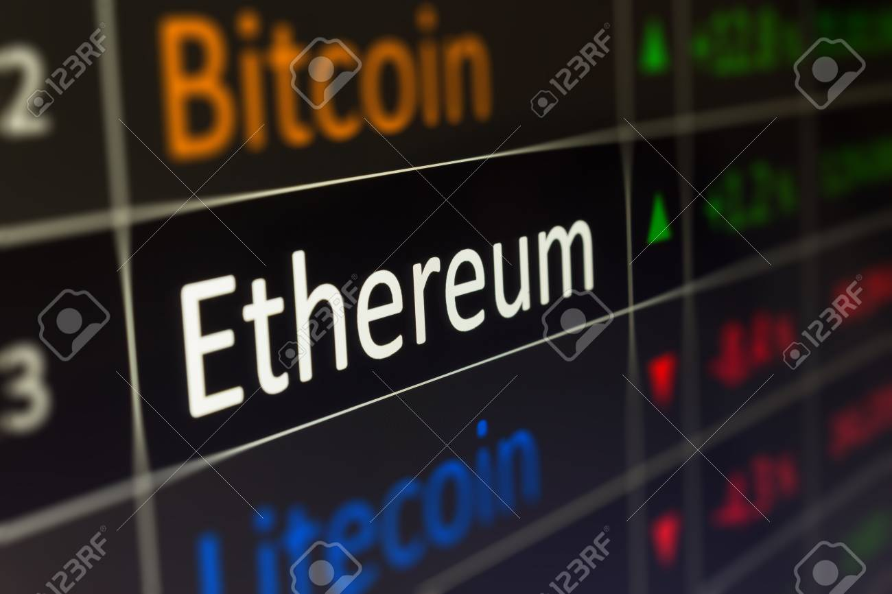 Ethereum coin crypto trading chart for buying and selling ETH