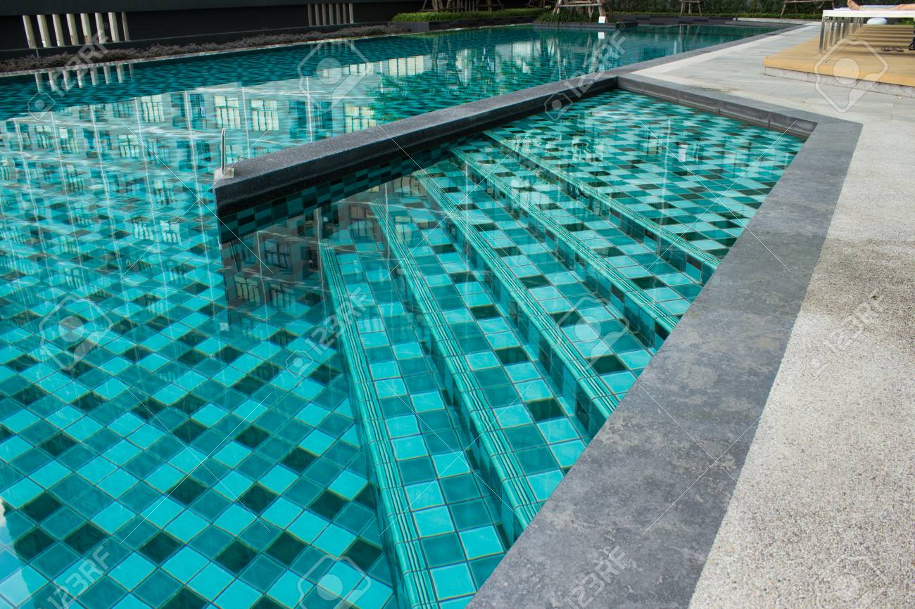 Luxury Swimming Pool Design By Architects With Stairs Into The Stock Photo Picture And Royalty Free Image Image 104613230