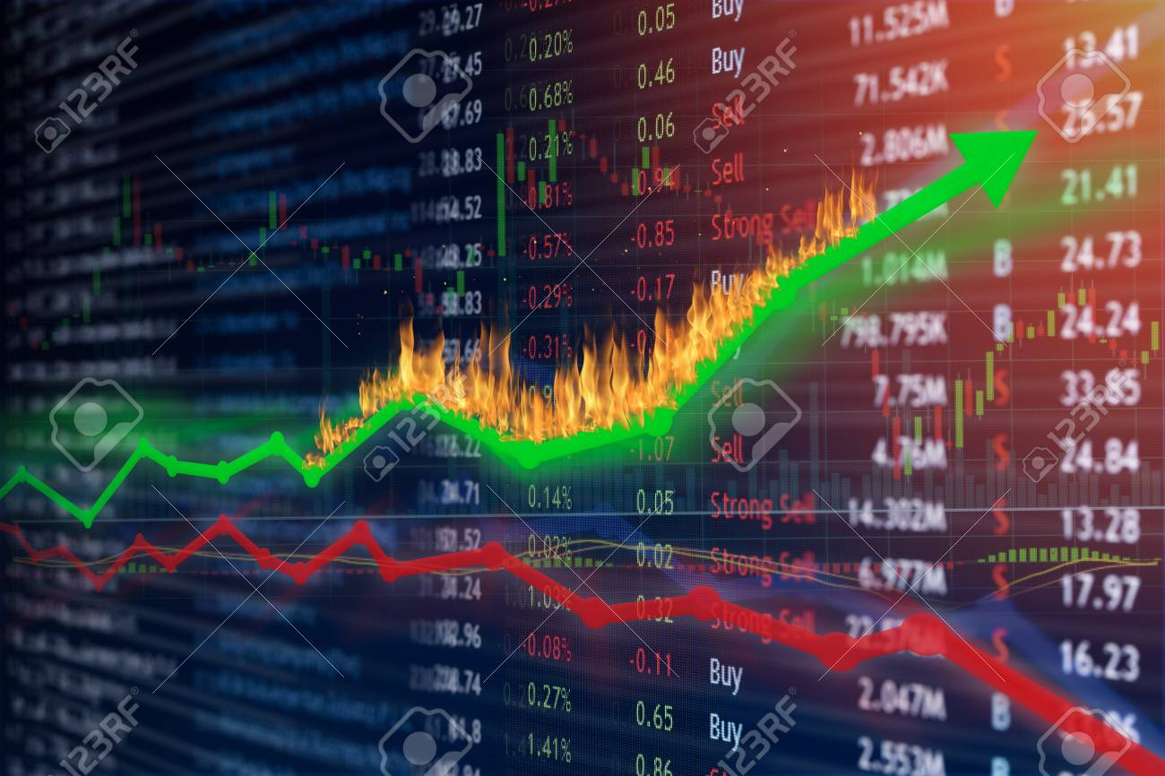 Stock market investment concept gain and profits with candlestick