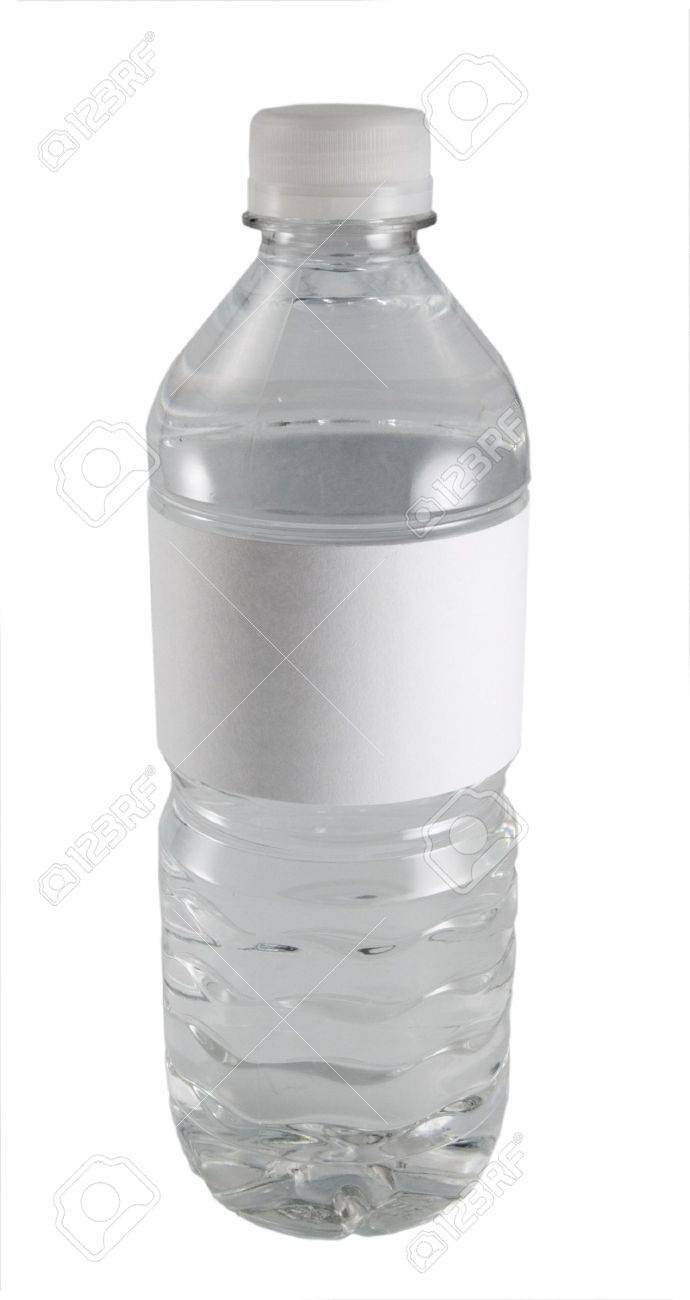 A Close-up On A Water Bottle With A Blank Label. Stock Photo ...