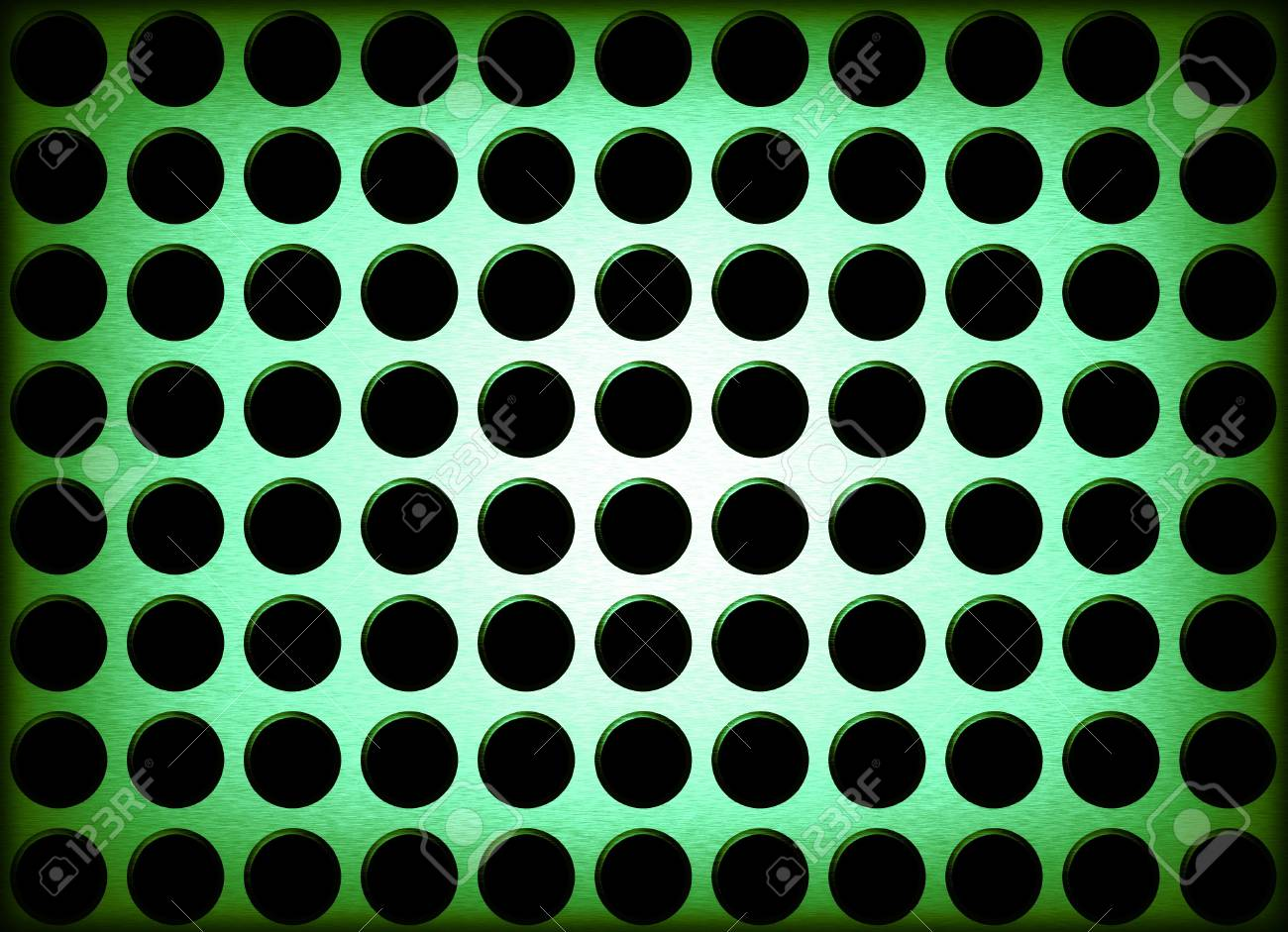 An abstract background illustration of metal holes. Stock Photo - 2826823