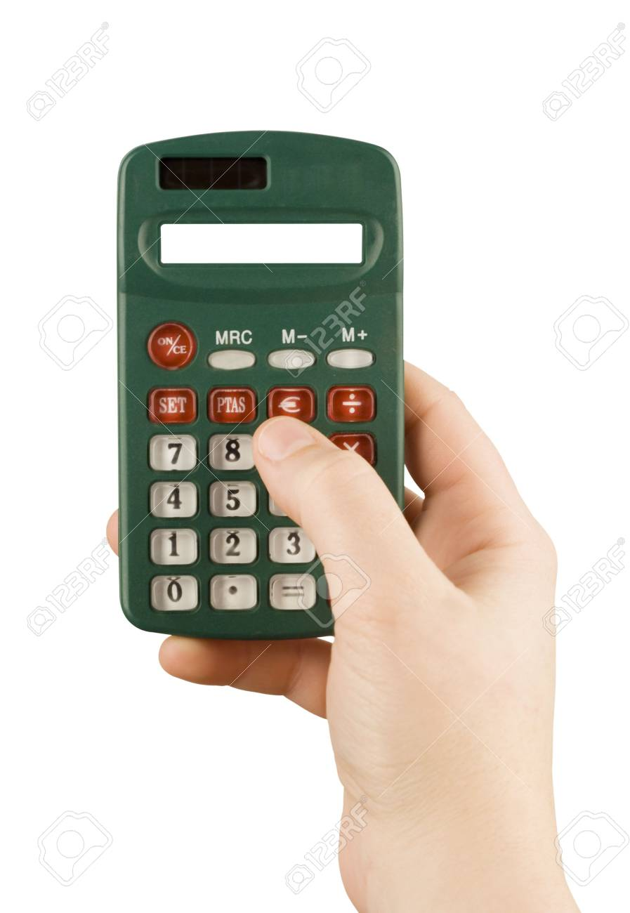 Business Financial Calculator Machine Hold In Woman Hand Stock Photo Picture And Royalty Free Image Image 3054884