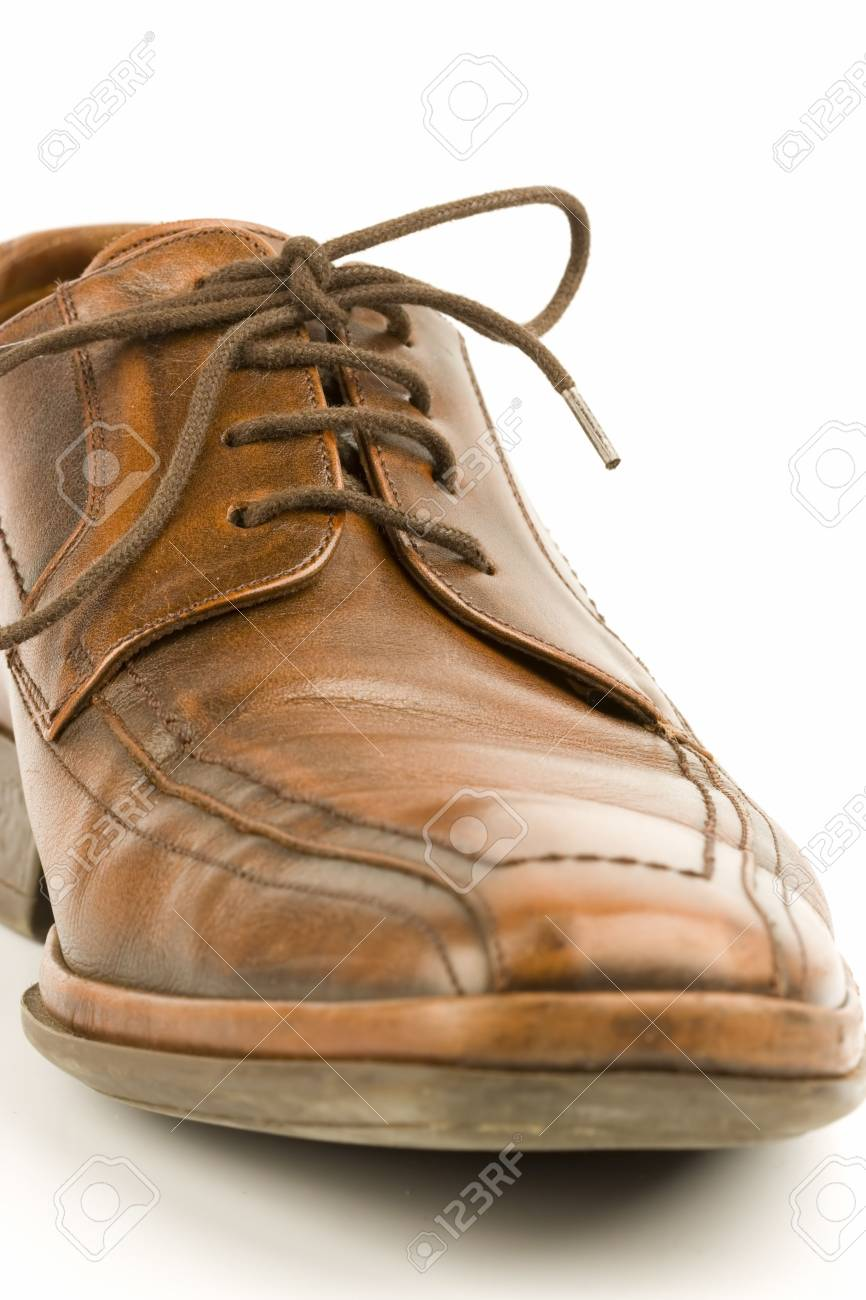 Business men luxury leather hand made shoes or brogues with shocks and tie Stock Photo - 3071754