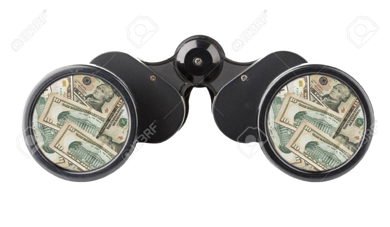 close up of a binoculars tool isolated over a white background Stock Photo - 3759599