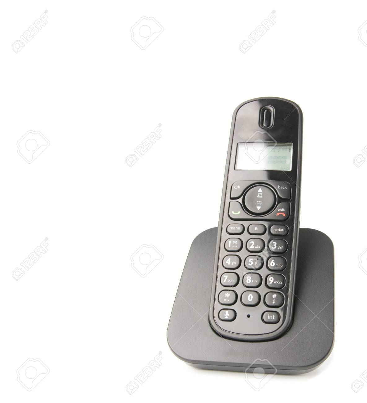 dect cordless phone isolated on withe background Stock Photo - 4006674