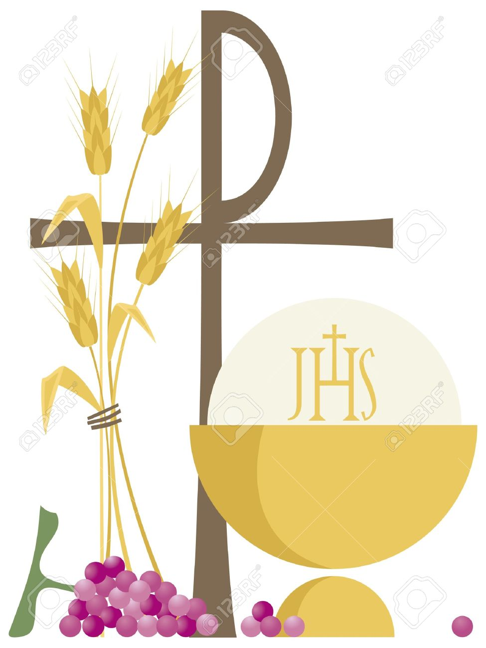 Symbols Of Christian Communion Royalty Free Cliparts Vectors And