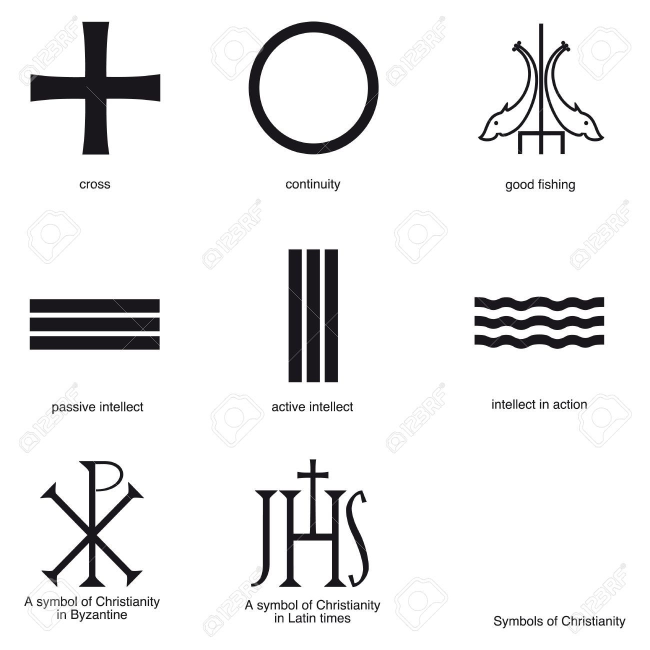 Symbols of ancient christianity royalty free cliparts vectors symbols of ancient christianity stock vector 9667738 biocorpaavc Gallery
