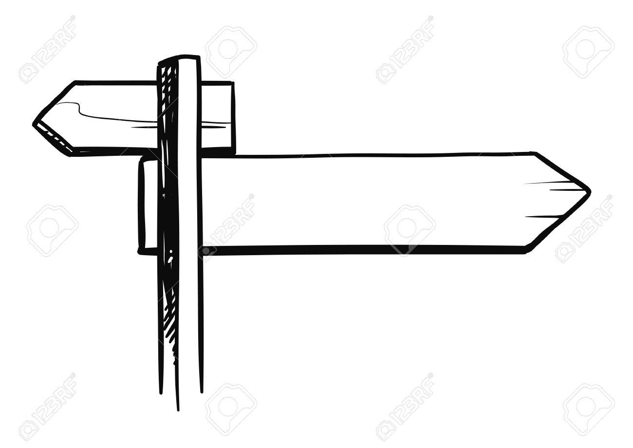 Vektor Hand Skizze Schwarz-weiß Abbildung Der Kreuzung Kreuzung ...