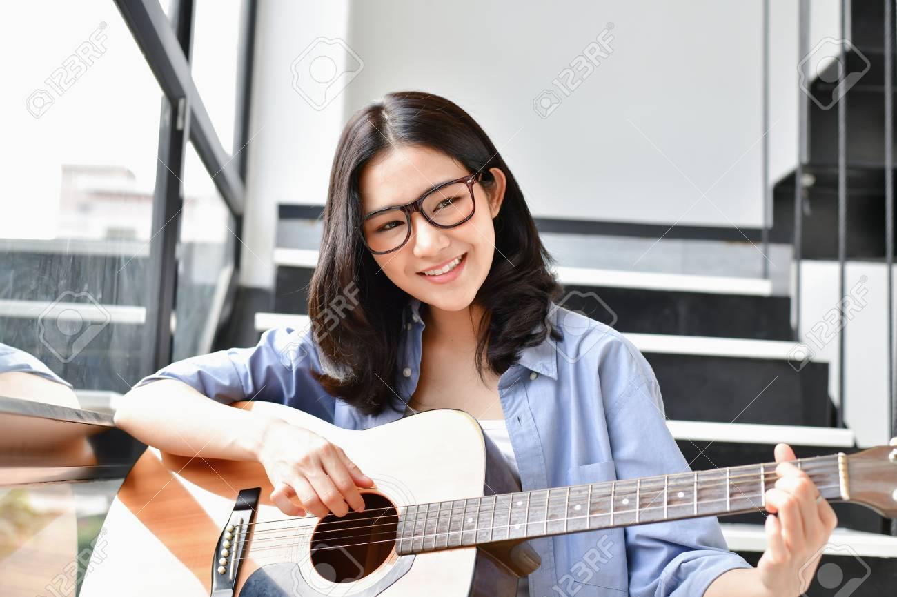 Asian girl playing