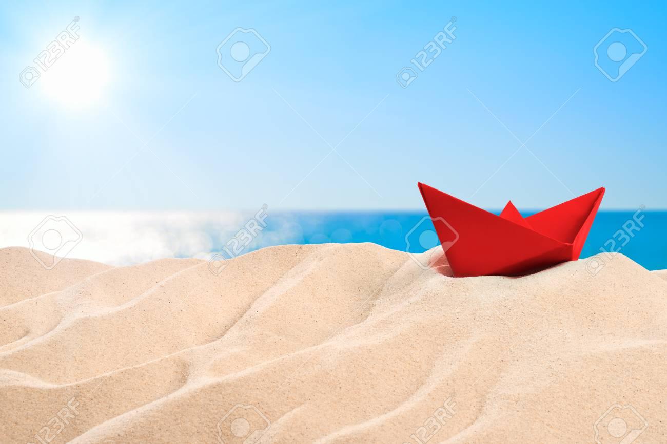 On the beach - a red sand dune on the beach - 81471720