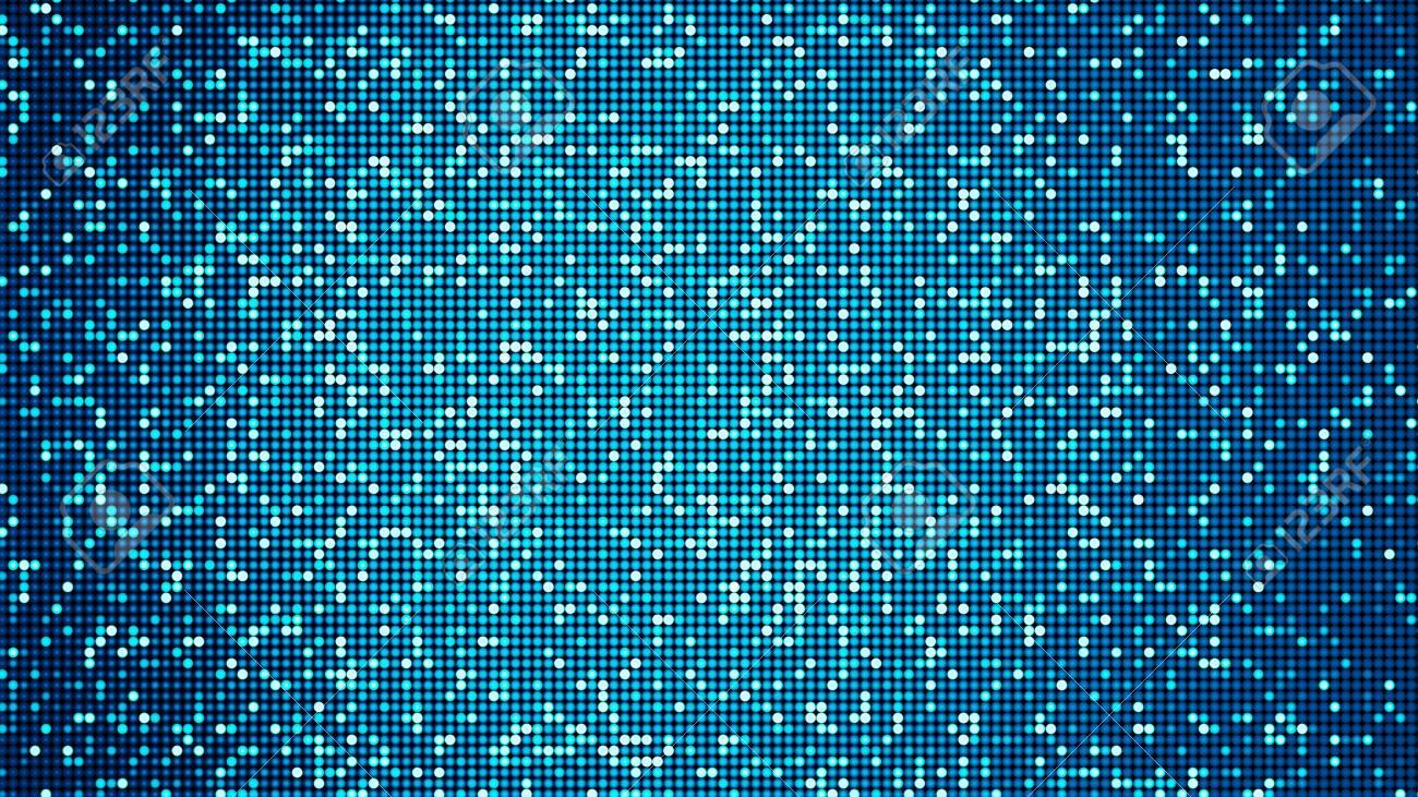 LED panel-like party, disco and celebration background - digitally generated image - 130118875