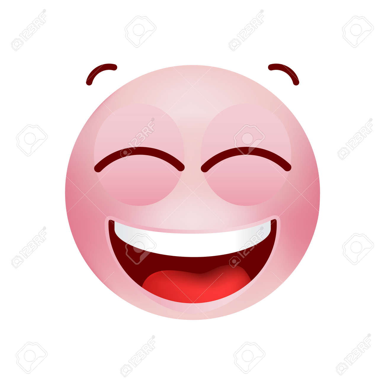 Cute Emoticon with Cartoon Style on White Background . Isolated Vector Illustration - 159240724