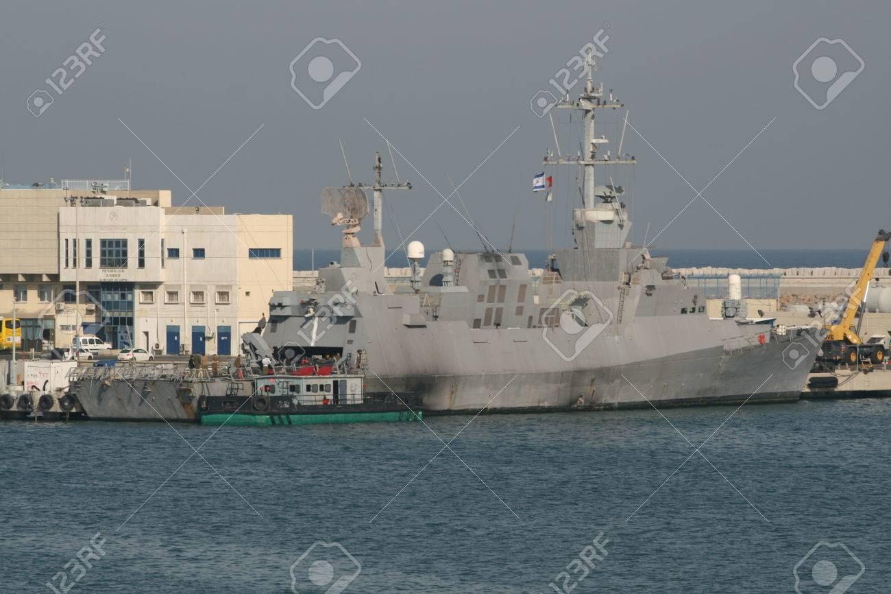 Sa ar 5-class corvette of Israeli Navy, Haifa, Israel