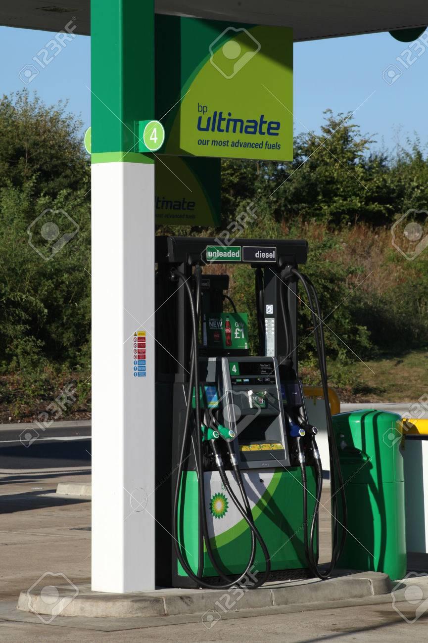 BP petrol station fuel pump, Braintree, Essex