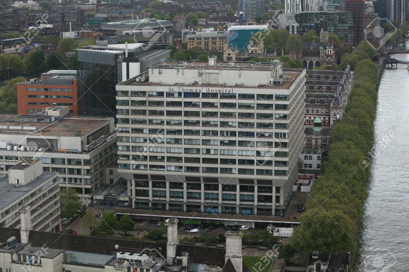 London England 22 April 2017 St Thomas Hospital Southbank Stock Photo Picture And Royalty Free Image Image 77866930