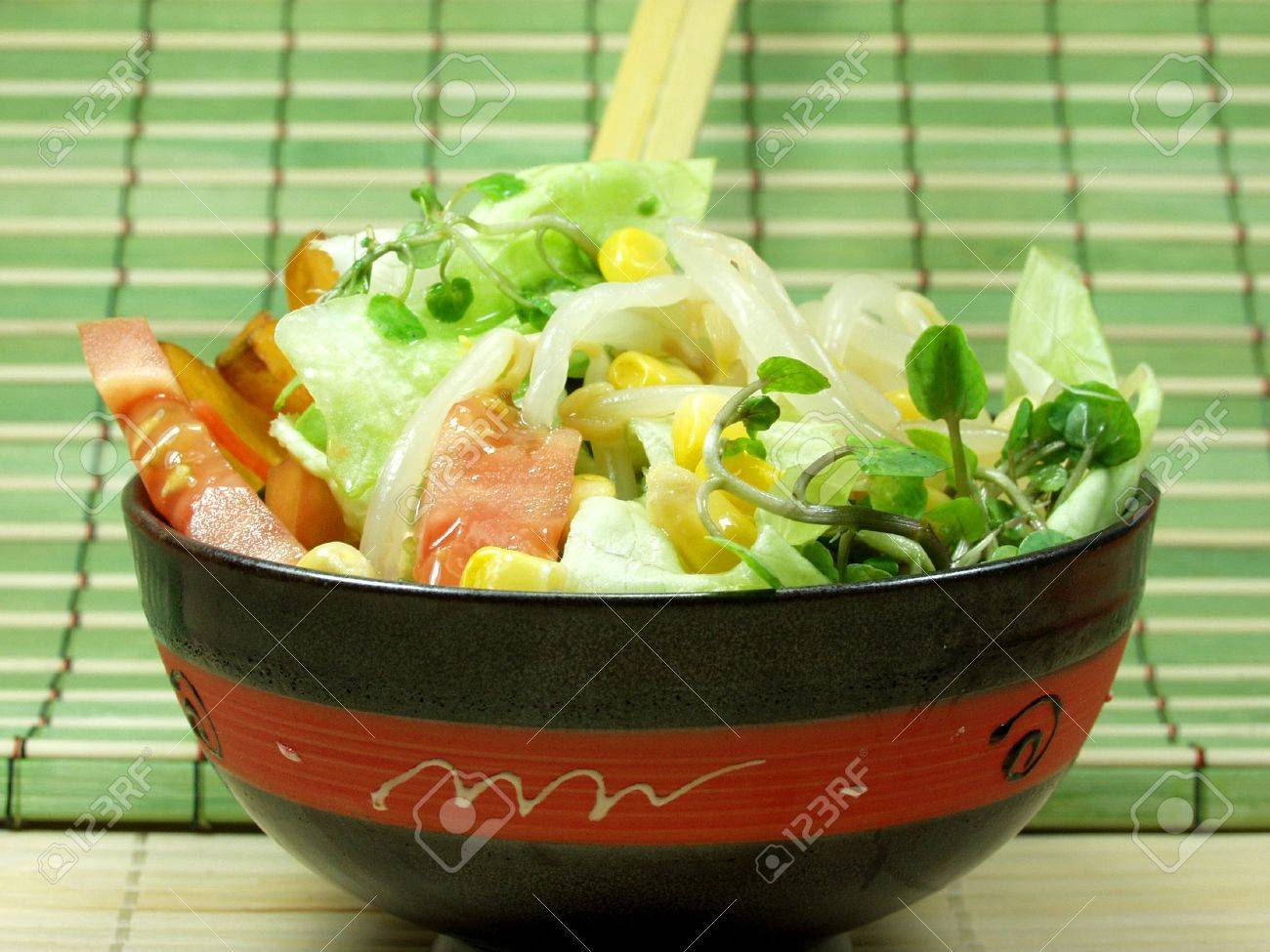 Fruit and vegetables tropical and exotic salad Stock Photo - 517087