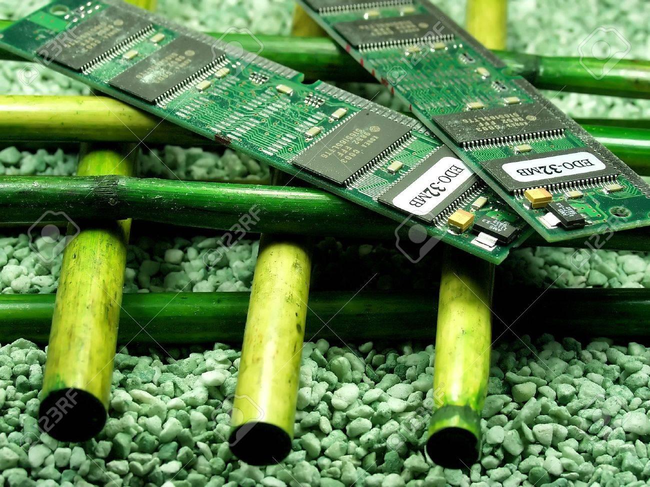 Ram Módulo De Memoria De Más De Bambú Tecnología Versus