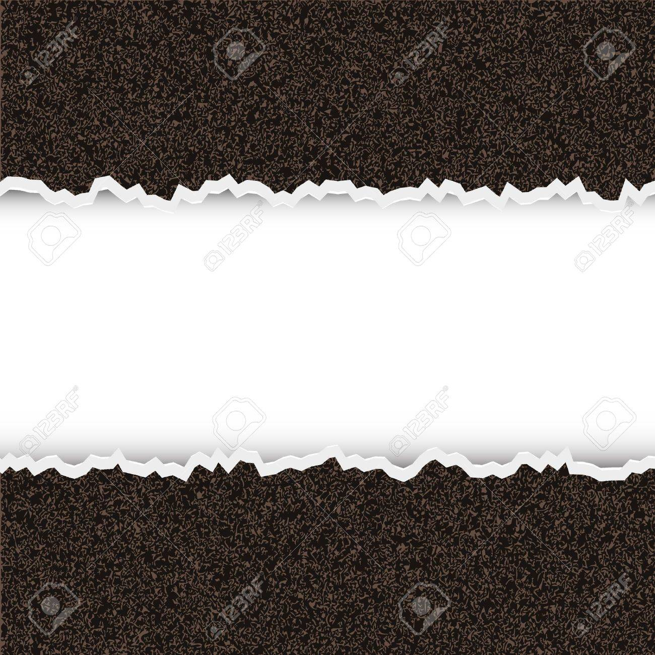Vector torn piece of rough paper with place for your text Stock Vector - 11275674