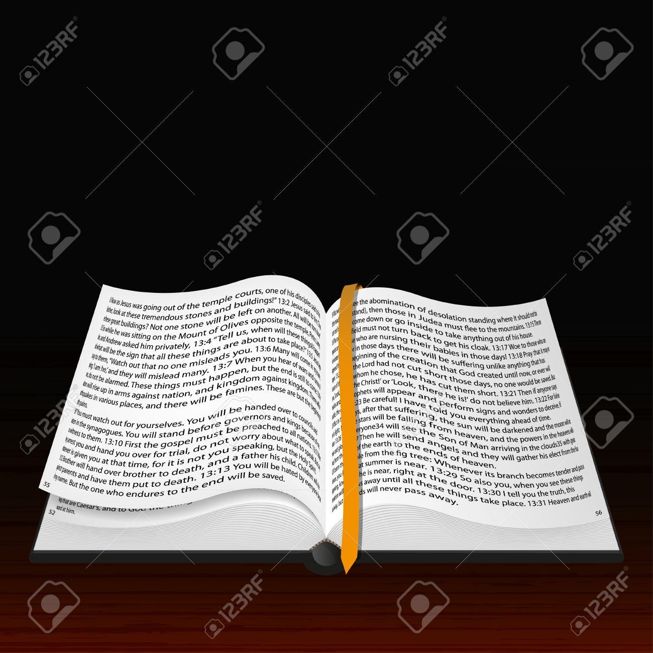 Vector Biblia Abierta La Mejor Opción Ilustraciones Vectoriales