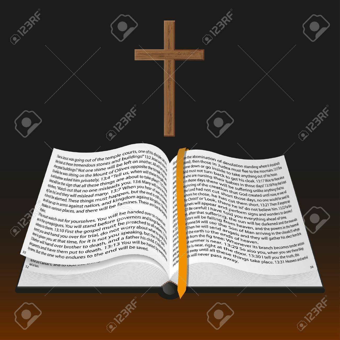 vector bible with cross Stock Vector - 11494306