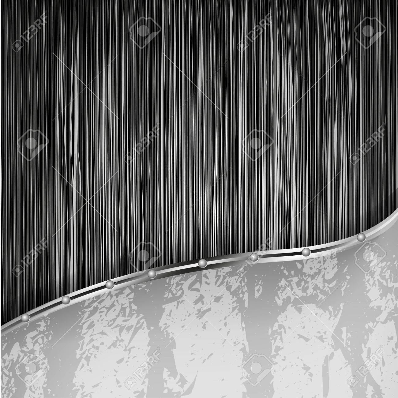 abstract metal background with steel plate. Vector illustration Stock Vector - 11779682