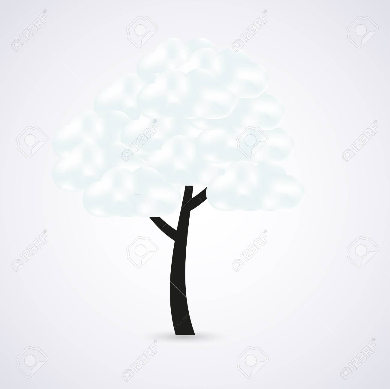 abstract background. Clouds tree Stock Vector - 12231729