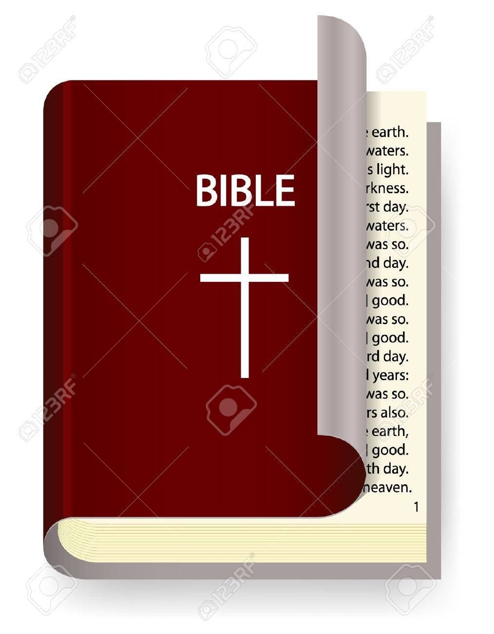 Vector Holy Bible isolated on white Stock Vector - 12763495
