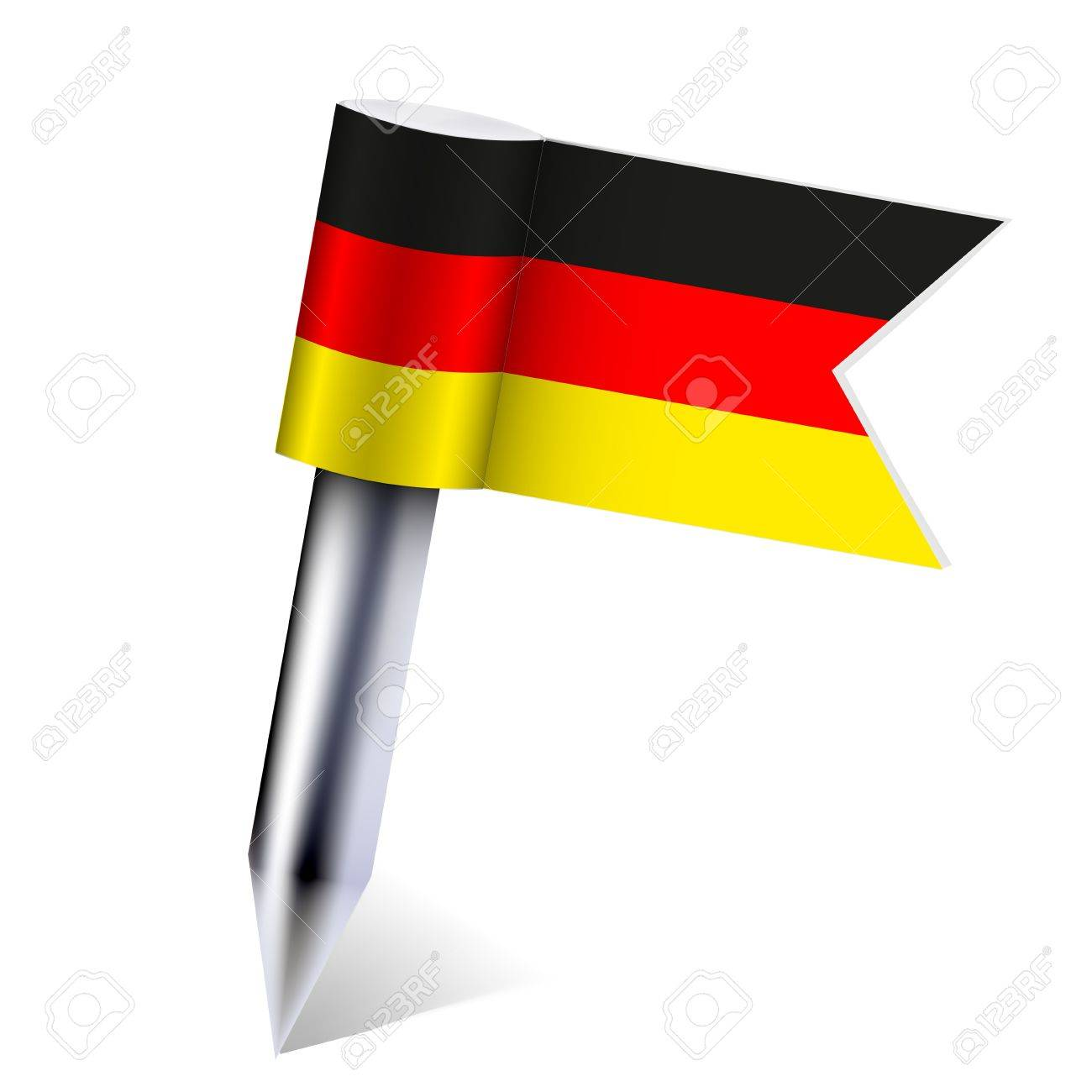 Vector Germany country flag isolated on white. Eps10 Stock Vector - 13535116