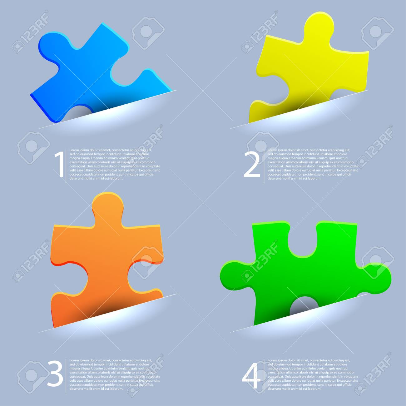 Vector abstract web puzzle. Eps10 Stock Vector - 13535115