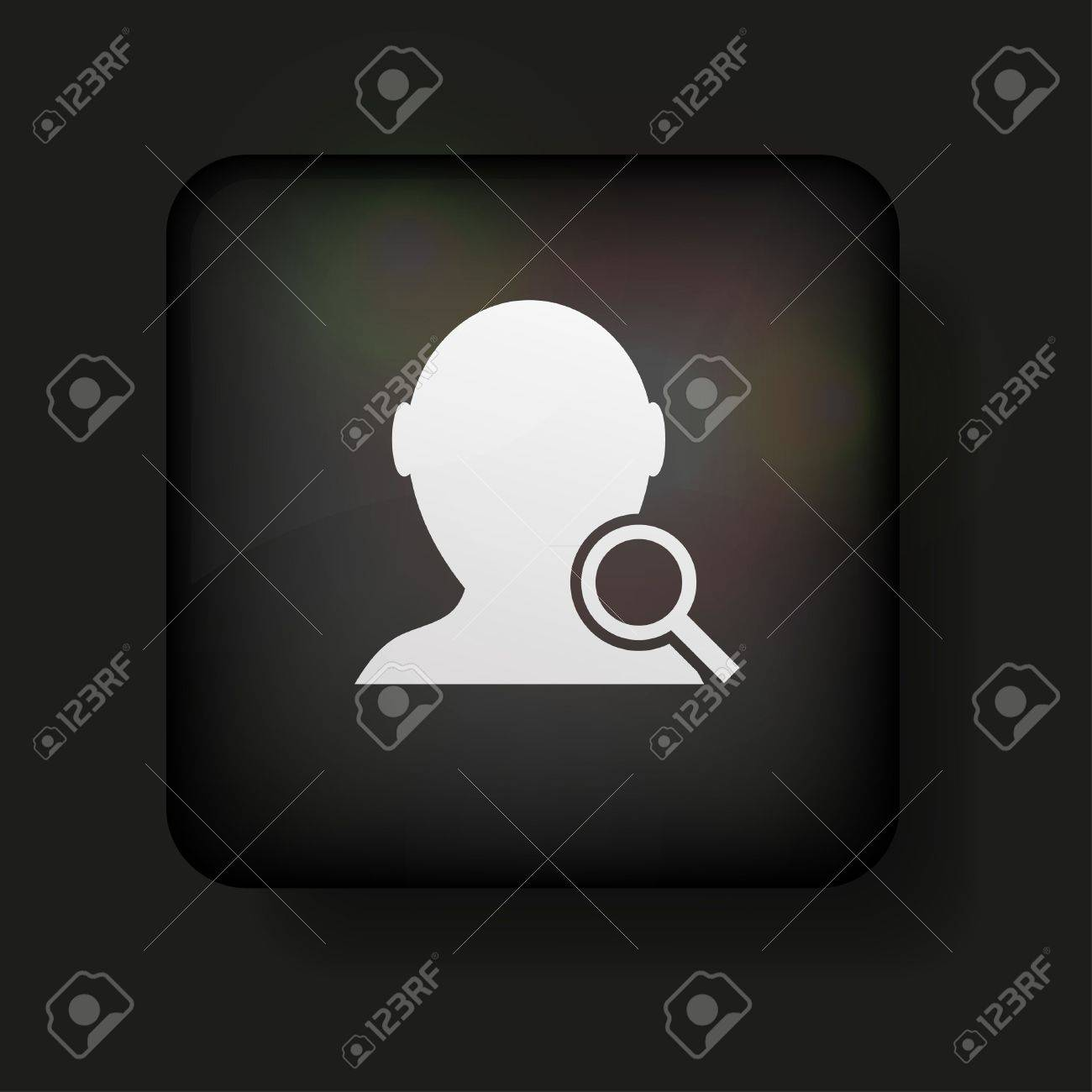 search friend icon on black. Stock Vector - 13698362