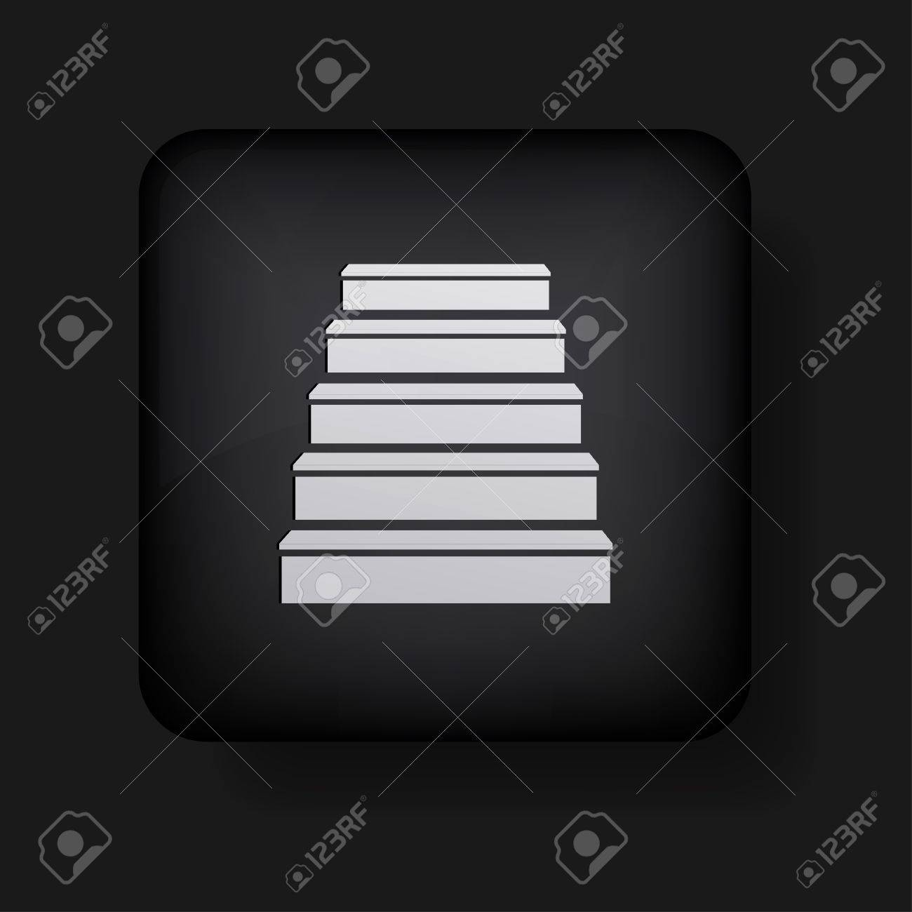 ladder icon on black. Stock Vector - 13698408