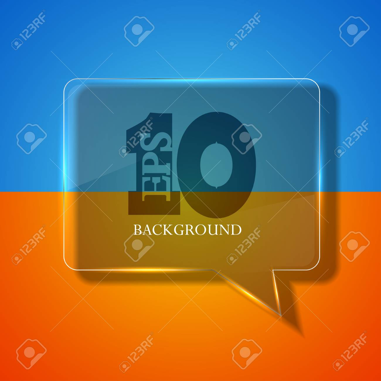 Vector glass bubble speech on colorful background. eps 10 Stock Vector - 14073632