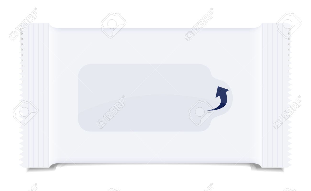 packaging for wet wipes isolated on white. Stock Vector - 14233678