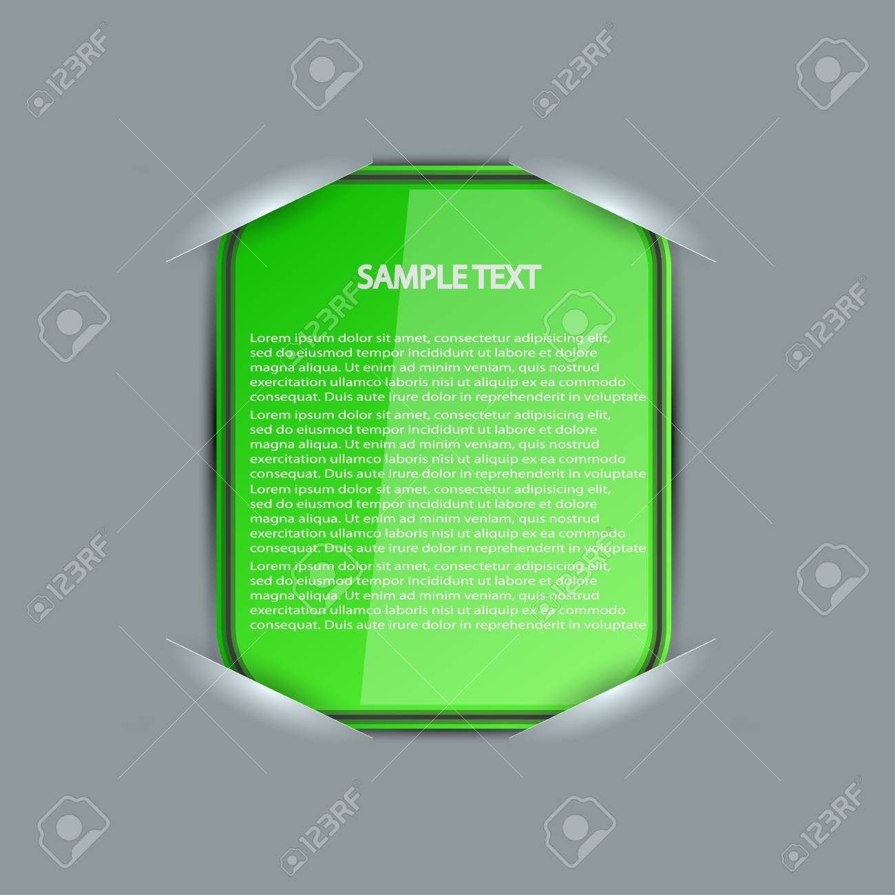 blank with place for your text Stock Vector - 15056532
